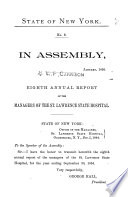 Annual Report of the Managers of the St  Lawrence State Hospital