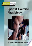 Bios Instant Notes In Sport And Exercise Physiology Book PDF