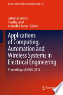 Applications of Computing  Automation and Wireless Systems in Electrical Engineering