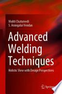 Advanced Welding Techniques Book