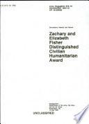 Zachary and Elizabeth Fisher Distinguished Civilian Humanitarian Award Book PDF