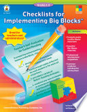 Checklists for Implementing Big BlocksTM, Grades 4 - 8