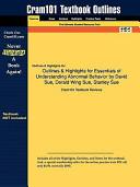Outlines and Highlights for Essentials of Understanding Abnormal Behavior by David Sue  Derald Wing Sue  Stanley Sue  Isbn