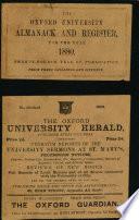 The Oxford university almanack and register