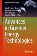 Advances in Greener Energy Technologies