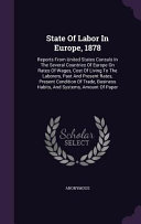 State of Labor in Europe  1878