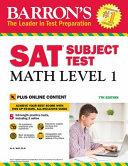 Barron s SAT Subject Test  Math Level 1 Book