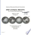 American Educational Research Association Annual Meeting Program
