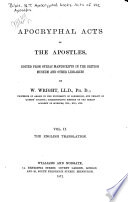 Apocryphal Acts of the Apostles: The English translations