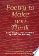 Poetry to Make You Think  Poetry Based on  First They Killed My Father  and  Kaffir Boy