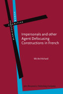Pdf Impersonals and other Agent Defocusing Constructions in French Telecharger