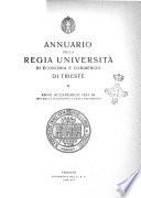 Annuario della Regia Università di economia e commercio di Trieste