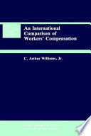 An International Comparison Of Workers Compensation Book PDF