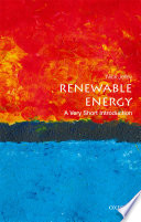 Renewable Energy  a Very Short Introduction Book