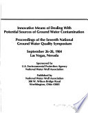 Proceedings of the National Ground Water Quality Symposium