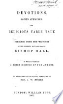 Devotions Sacred Aphorisms And Religious Table Talk Book PDF