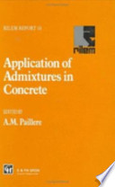 Application of Admixtures in Concrete Book