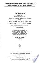 Formulation of the 1990 Farm Bill