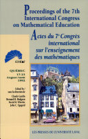 Pdf Actes Du 7e Congrès International Sur L'enseignement Des Mathématiques Telecharger