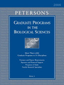 Peterson's Graduate Programs in the Biological Sciences 2008