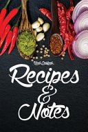 Blank Cookbook Recipes Notes