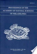 Proceedings Of The Academy Of Natural Sciences Vol 140 1988
