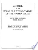 Journal of the House of Representatives of the United States