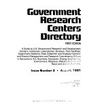 Government Research Centers Directory