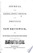 Journal Of The Legislative Council Of The Province Of New Brunswick