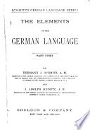 The Elements of the German Language Book