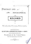 Portrait and Biographical Record of Waukesha County  Wisconsin Book