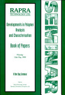 Developments in Polymer Analysis and Characterisation
