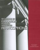 Pdf Recherche en éducation en milieu minoritaire francophone Telecharger
