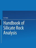 A Handbook of Silicate Rock Analysis Pdf/ePub eBook