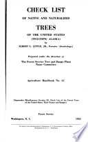 Check List Of Native And Naturalized Trees Of The United States Including Alaska