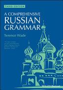 A Comprehensive Russian Grammar [Pdf/ePub] eBook