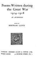 Poems Written During the Great War, 1914-1918