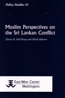 Muslim Perspectives On The Sri Lankan Conflict