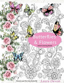 Adult Coloring Books BUTTERFLIES and FLOWERS
