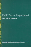 Public Sector Employment in a Time of Transition