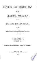 Report of State Officers  Board and Committees to the General Assembly of the State of South Carolina