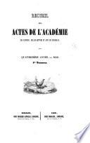Actes de l'Académie nationale des sciences, belles-lettres et arts de Bordeaux