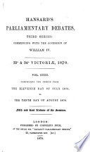 The Parliamentary Debates  official Report s