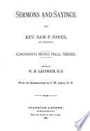 Sermons and Sayings