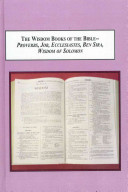 Pdf The Wisdom Books of the Bible