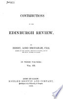 Contributions to the Edinburgh Review