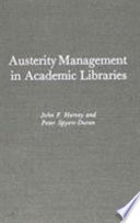 Austerity Management in Academic Libraries