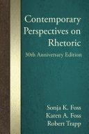 Contemporary Perspectives on Rhetoric Pdf/ePub eBook