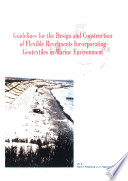 Guidelines for the design and construction of flexible revetments incorporating geotextiles in marine environment