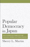 Popular Democracy in Japan Pdf/ePub eBook